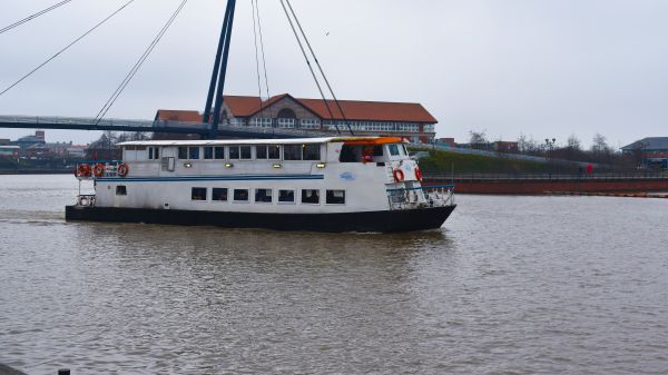 The Teesside Princess sets sail from Stockton