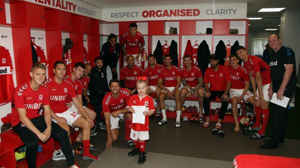 Darcyana Aspery-Walsh meets the players in the dressing room