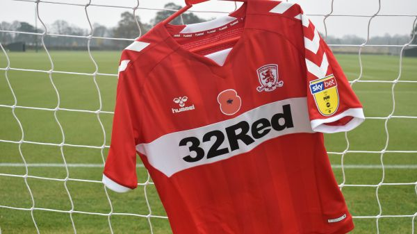 Middlesbrough shirt with poppy