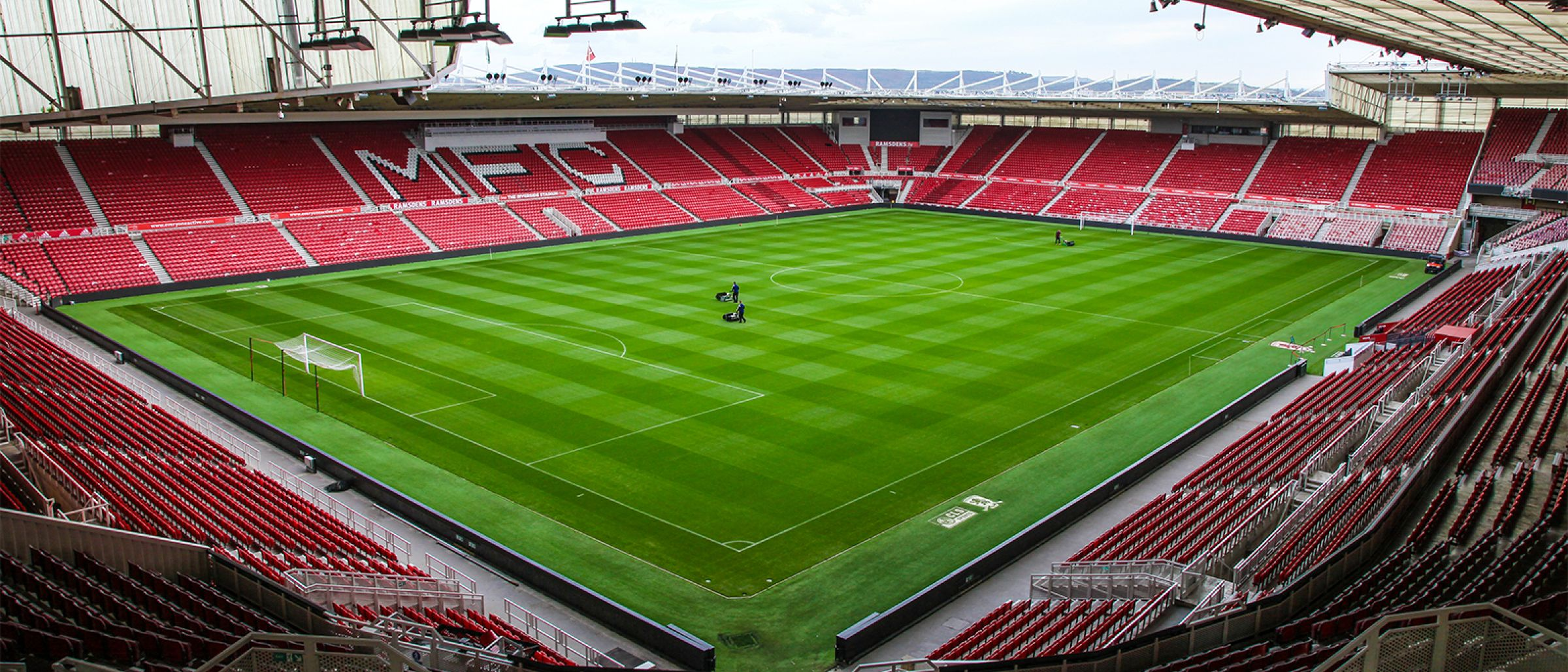 A picture of the Riverside Stadium from the North West Corner