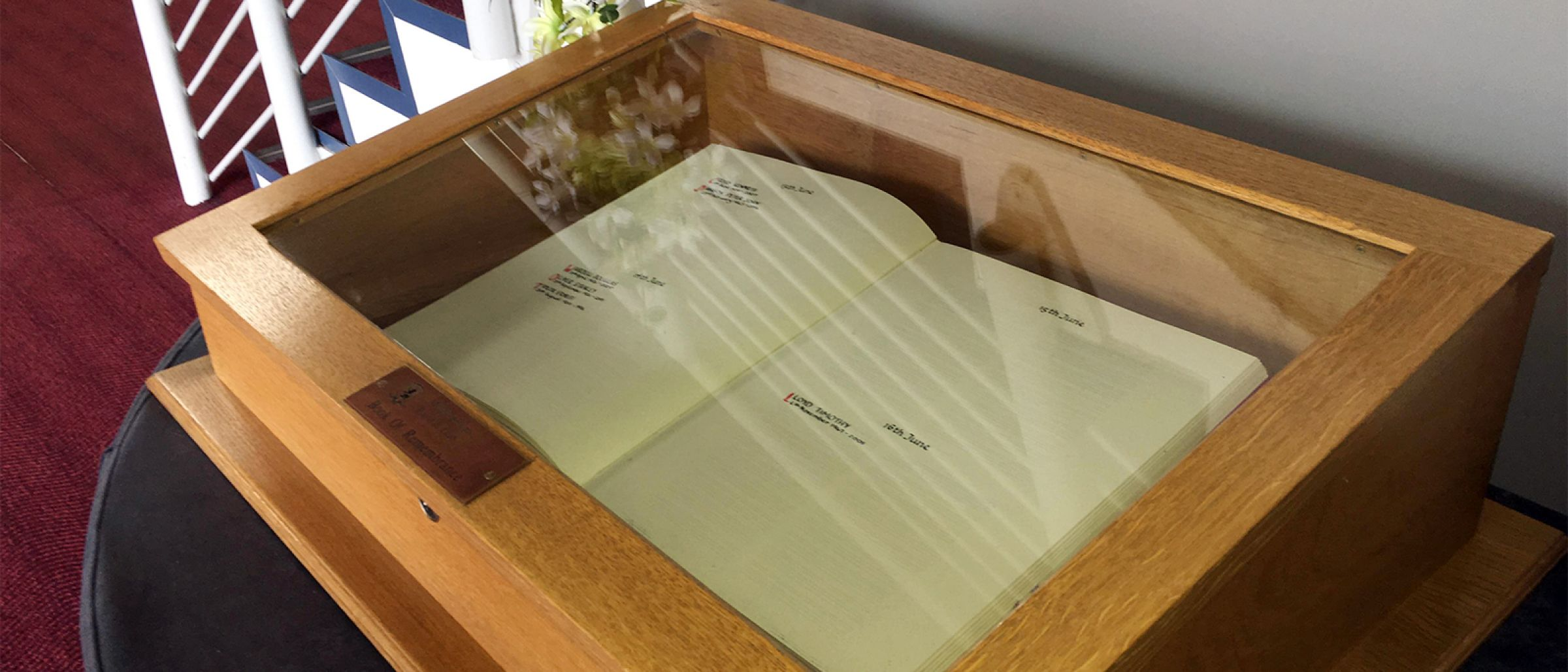 The Book of Remembrance at the Riverside Stadium