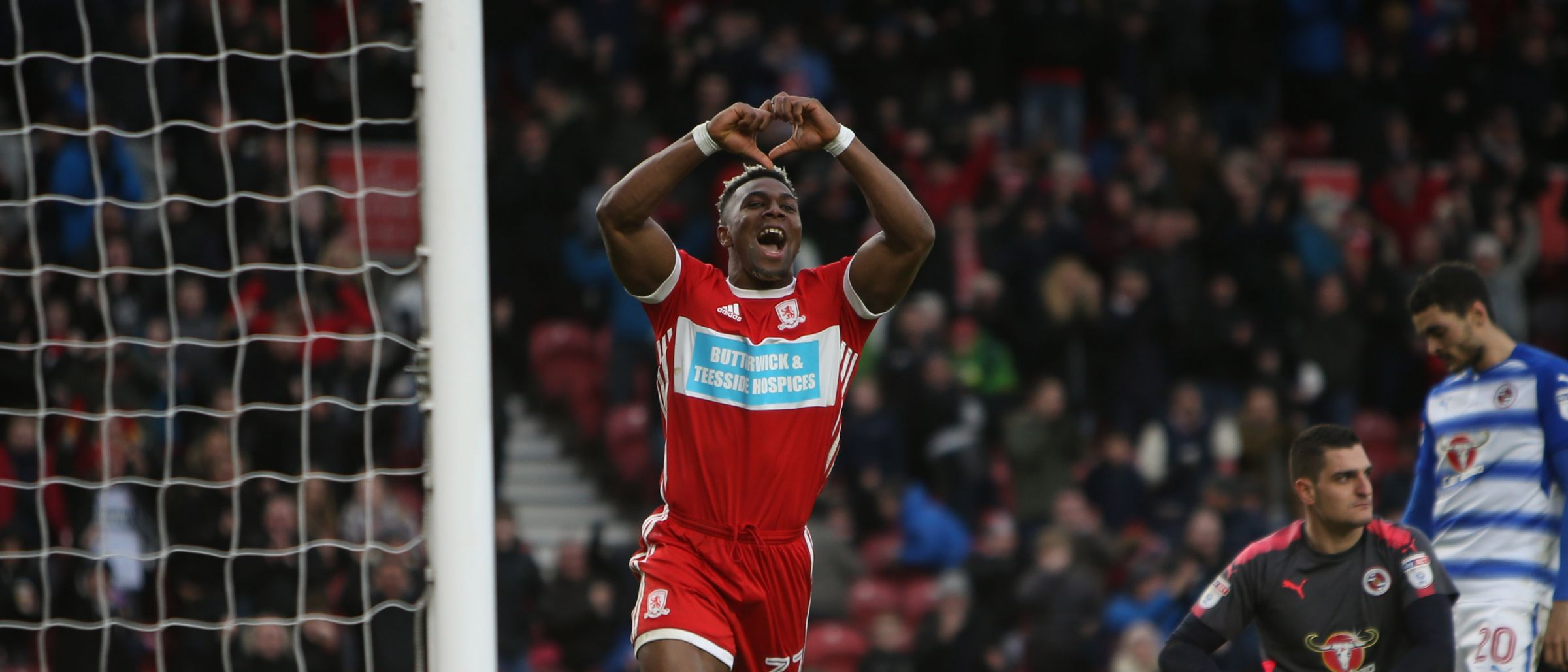 Image result for adama traore middlesbrough celebration