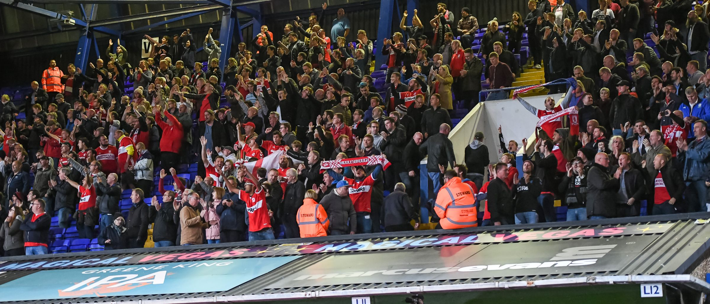 Boro fans at Ipswich Town