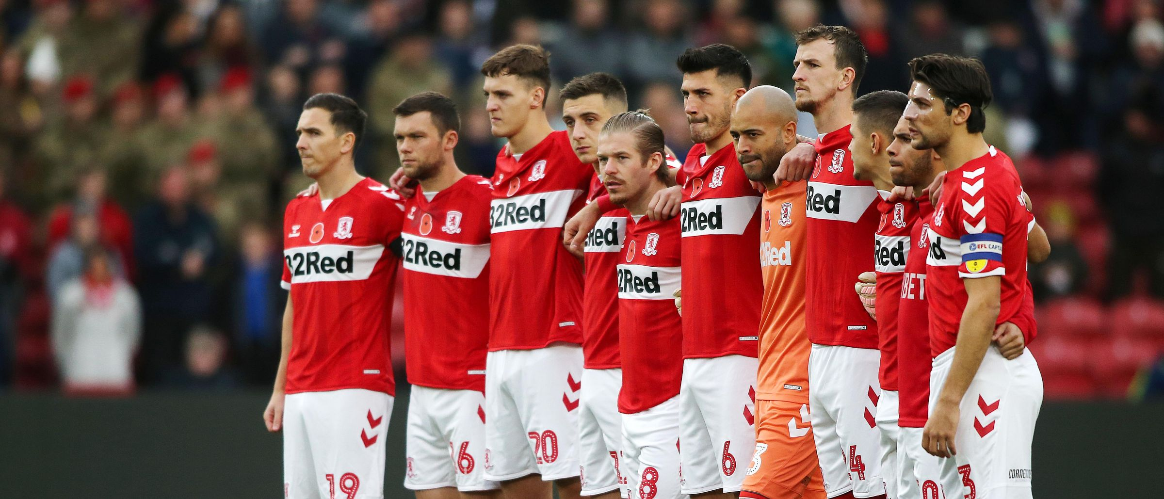 Boro players pay their respects