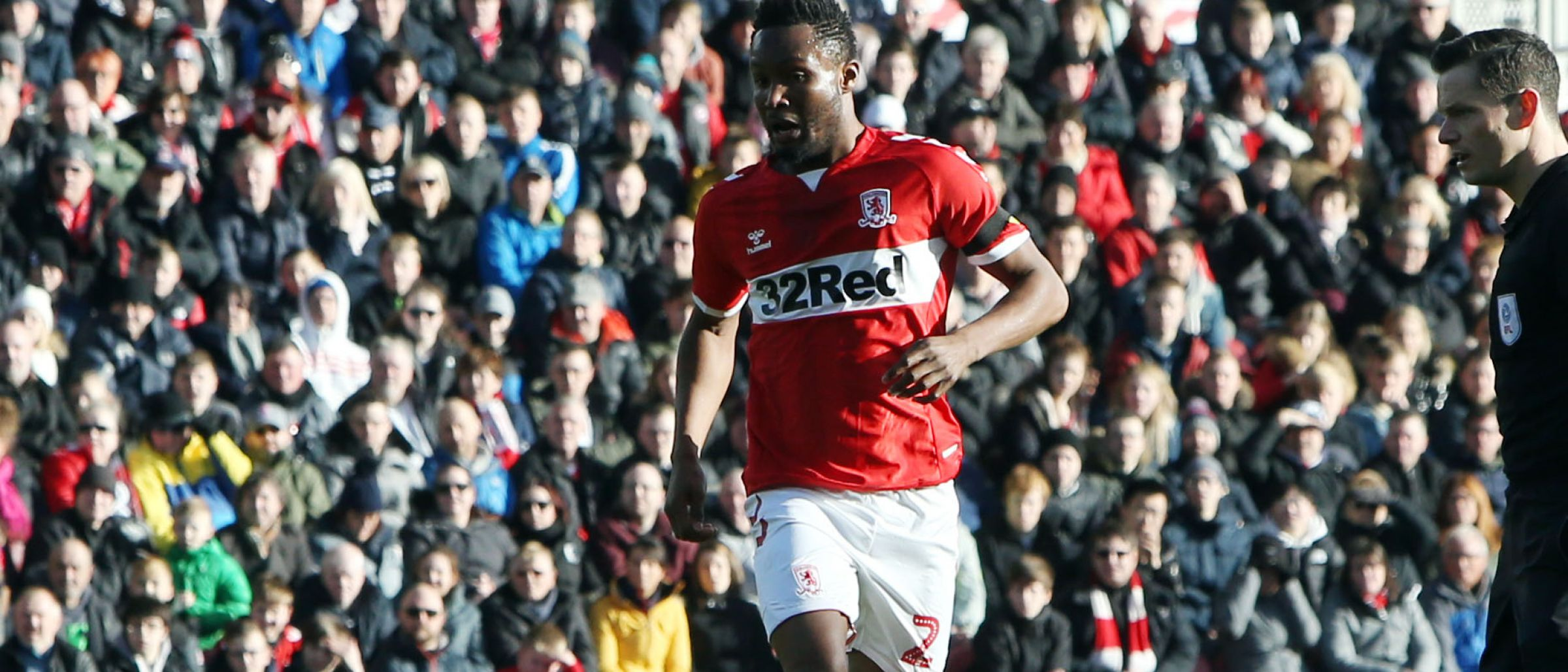 John Obi Mikel oozes calm and confidence as he plays the ball in Boro's midfield