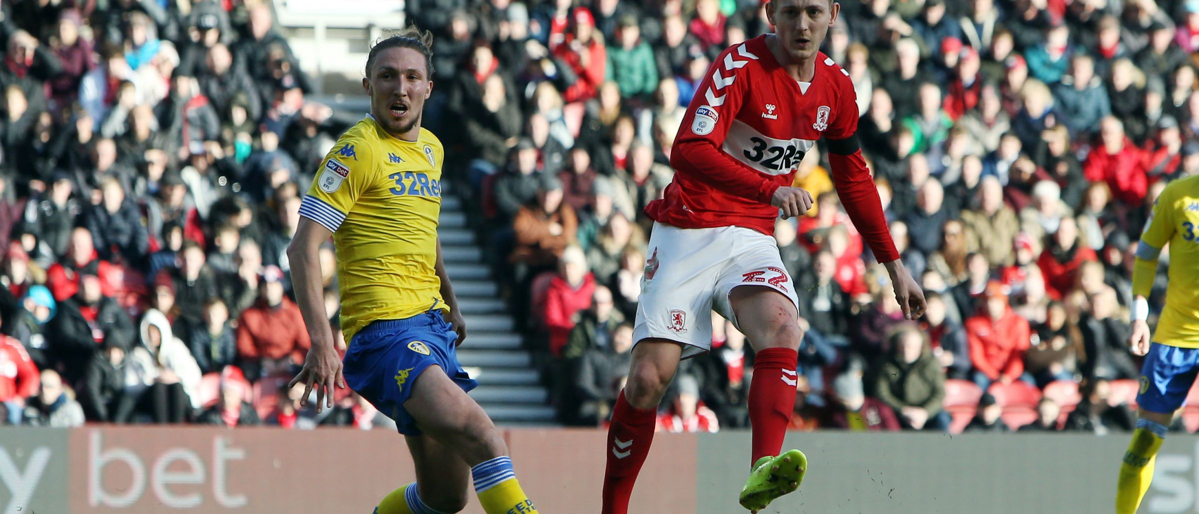 George Saville spots the onrushing George Friend and picks a lovely line