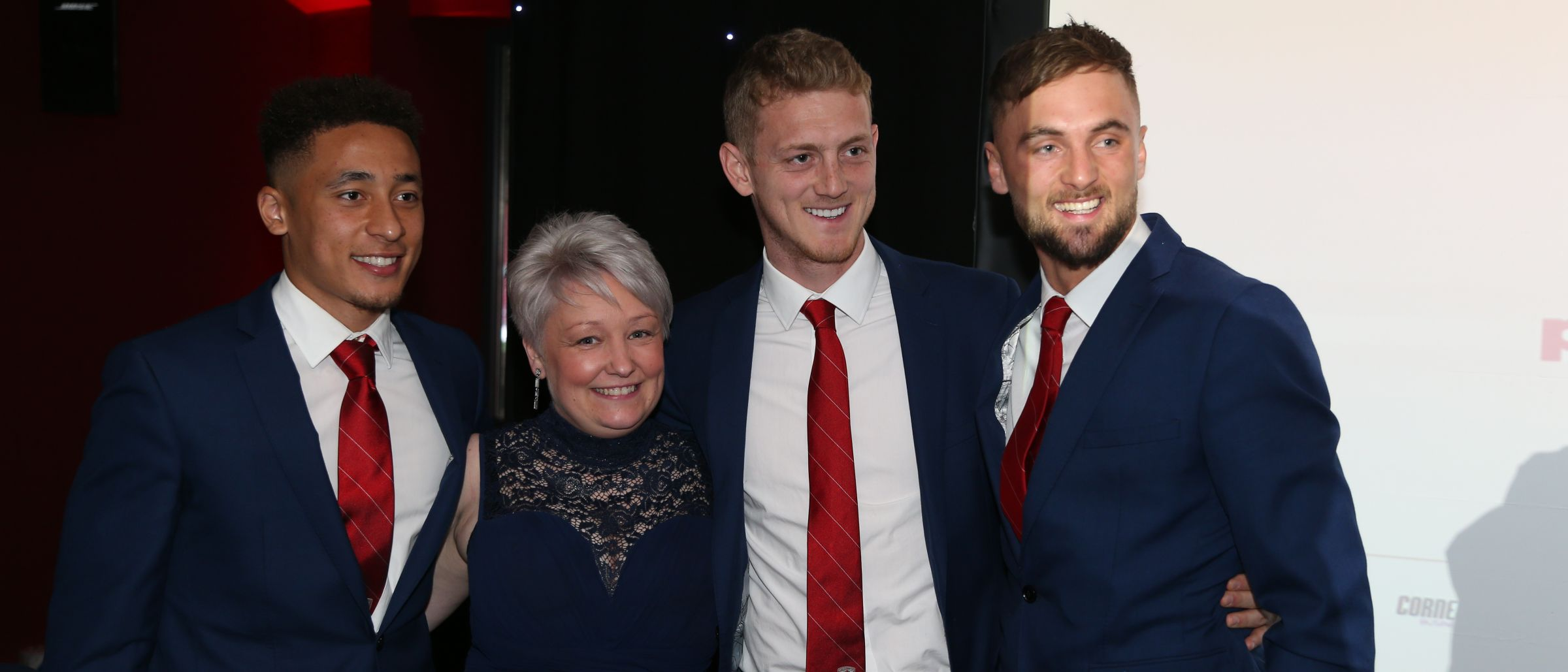 Boro players with guests at Player of the Year awards