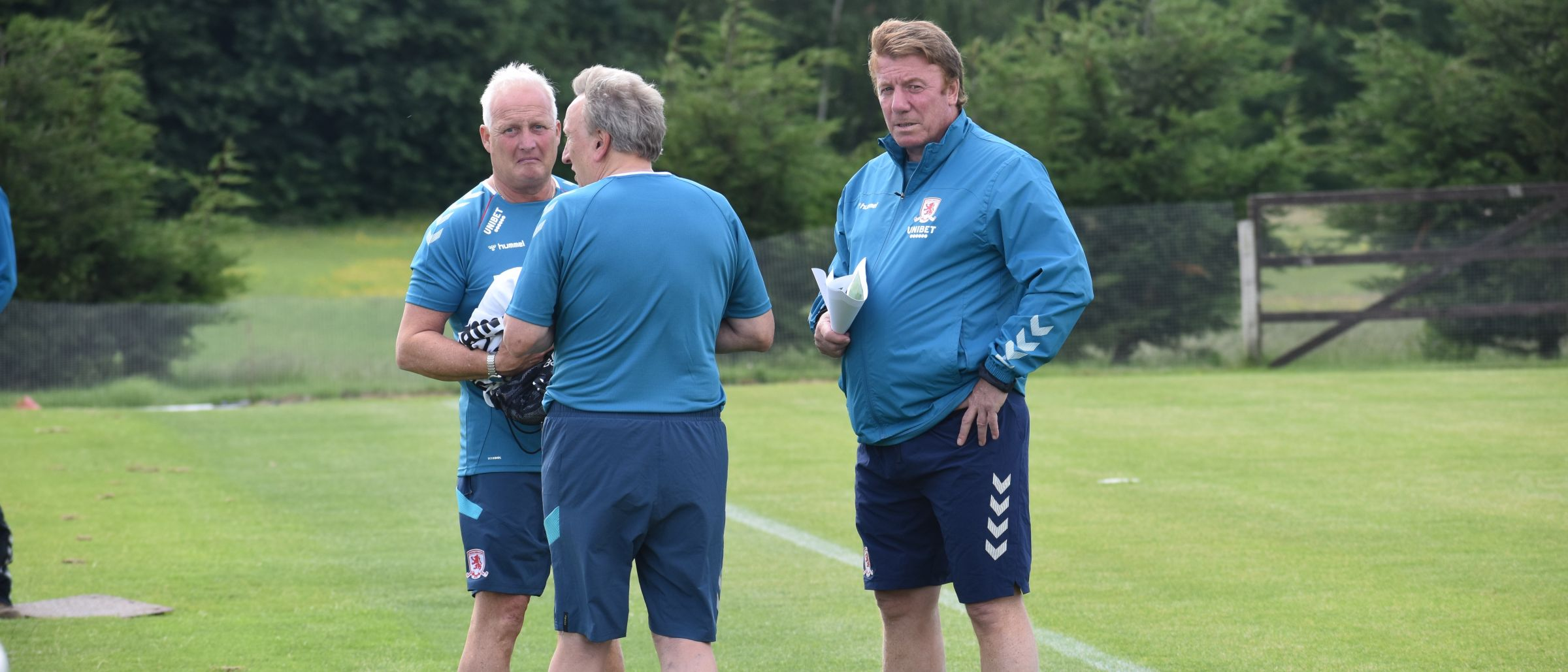 Kevin Blackwell and Ronnie Jepson with Neil Warnock