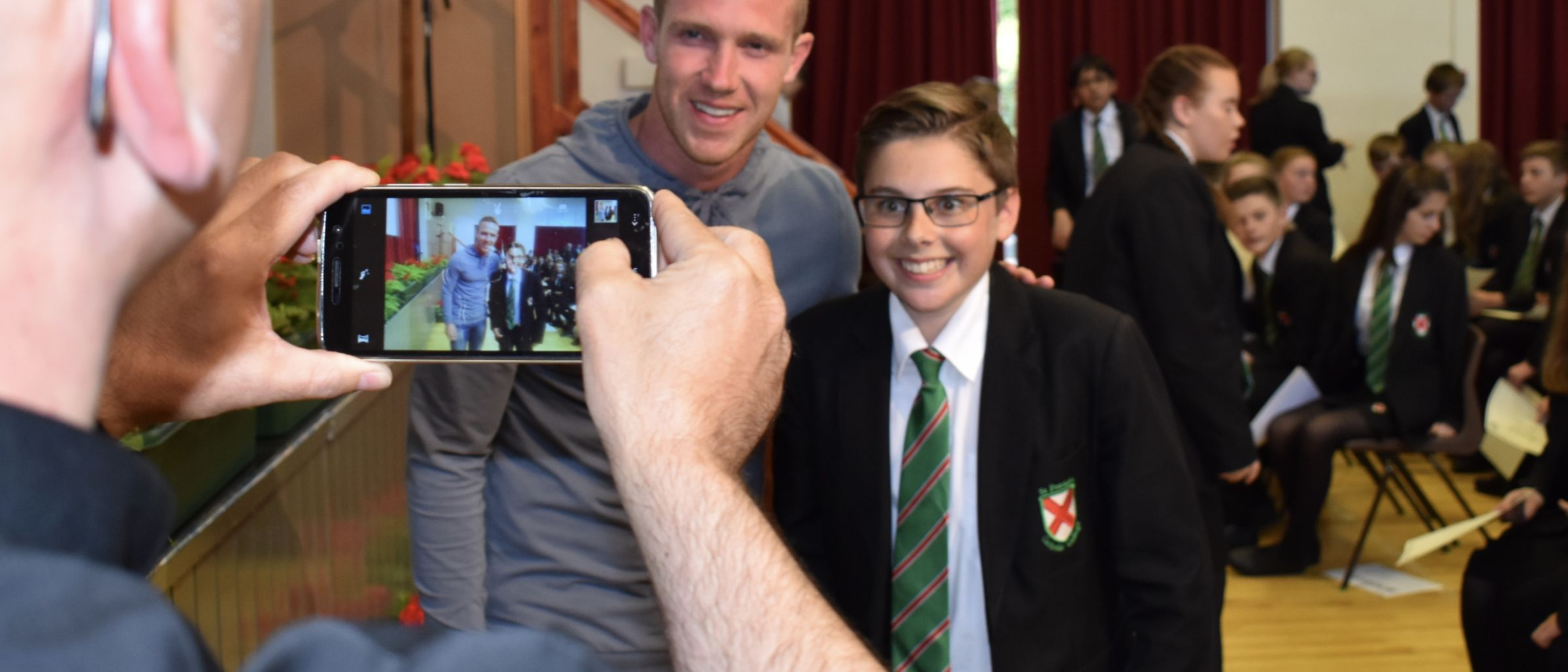 Middlesbrough FC's Adam Forshaw visits St Patricks's Academy in Thornaby