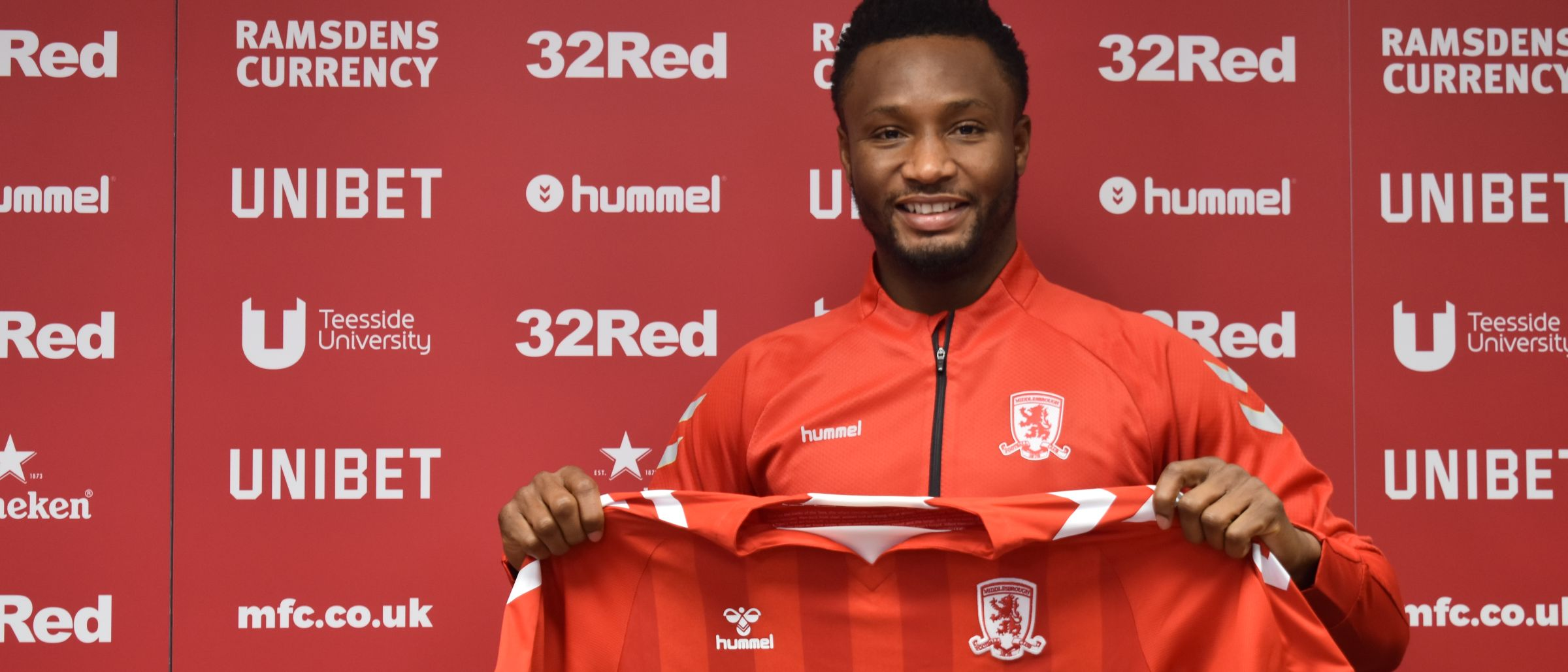 John Obi Mikel joins Middlesbrough FC