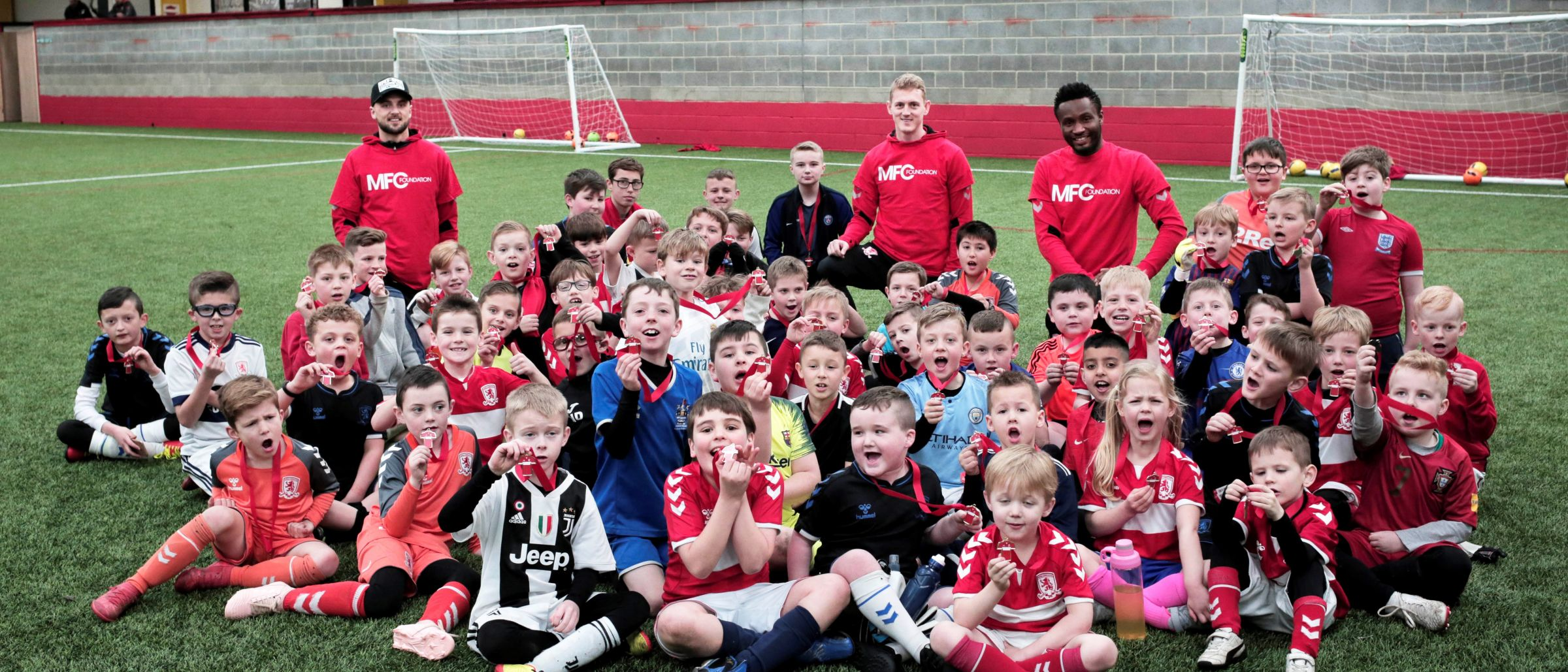 George Saville John Obi Mikel Lewis Wing MFC Foundation Holiday Course