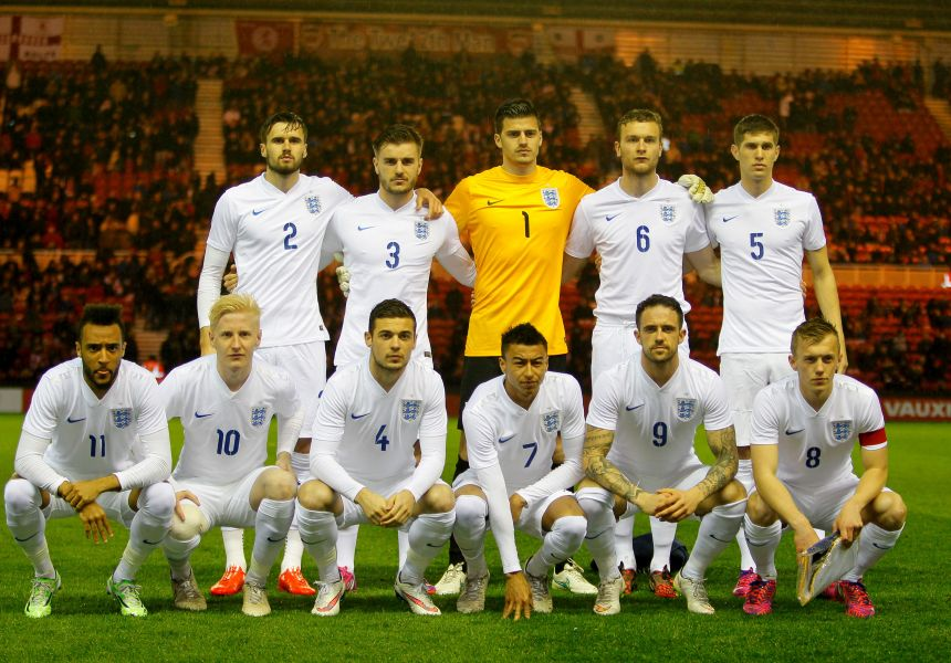 England's U21s at the Riverside