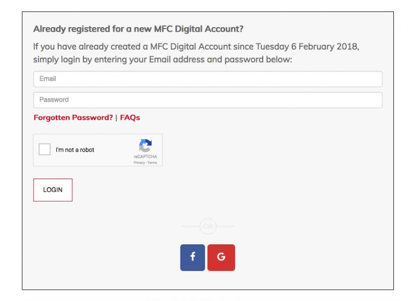 Login Into MFC Digital Account
