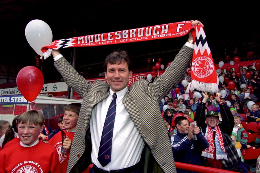 Bryan Robson is unveiled as Boro's player-manager