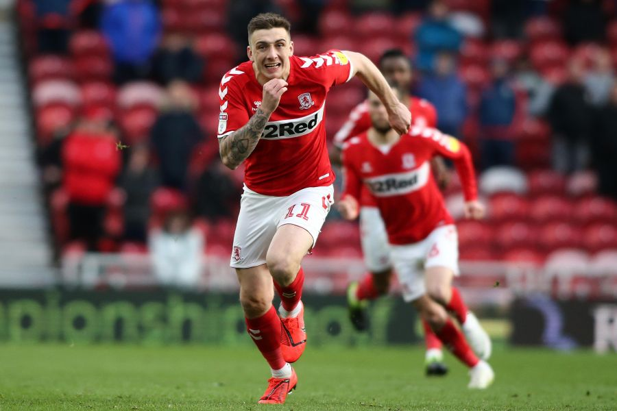 Introduced in the second-half Jordan Hugill was tasked with livening up the Boro attack