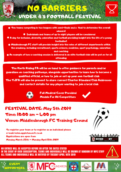 No Barriers U8s Football Tournament