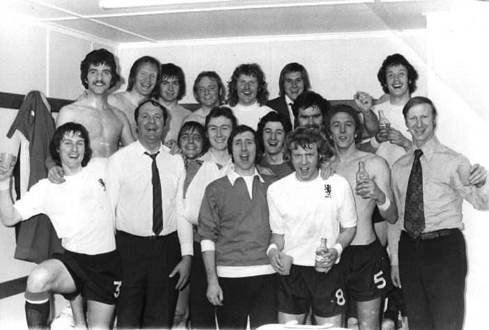 Jack Charlton and Middlesbrough celebrate winning promotion in 1974