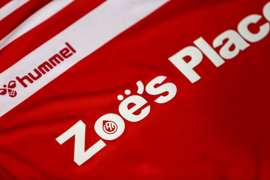 A close up of the new shirt worn by Boro's Academy teams